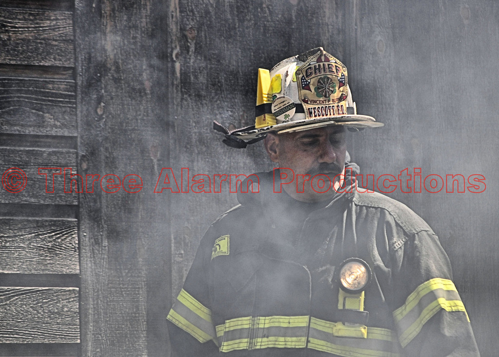 Wescott Fire Chief on the scene of a residential structure fire in Black Forest, Colorado. 6/23/2013